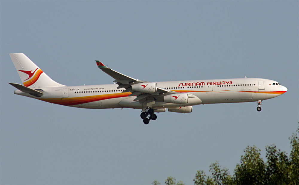 Airbus A340 Surinam Airways.